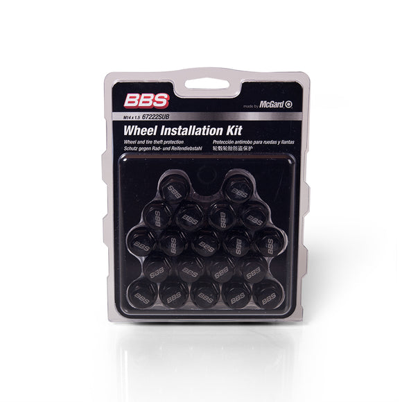 BBS WHEEL BOLT SET with BBS-LASER-LOGO (Black color - 20 pcs. / set)