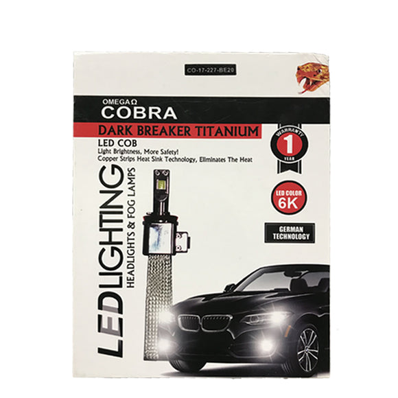 COBRA Dark Breaker LED Heat Copper Sink Type H4 6000K