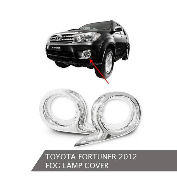 TOYOTA FORTUNER 2012 FOGLAMP COVER CHROME