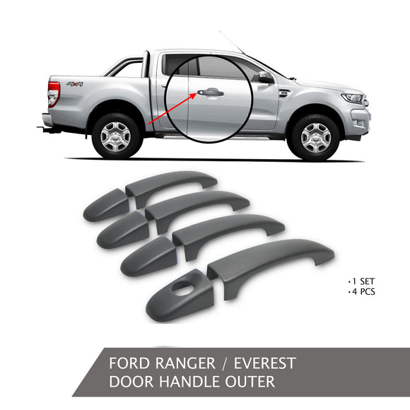 FORD RANGER DOOR HANDLE OUTER BLACK