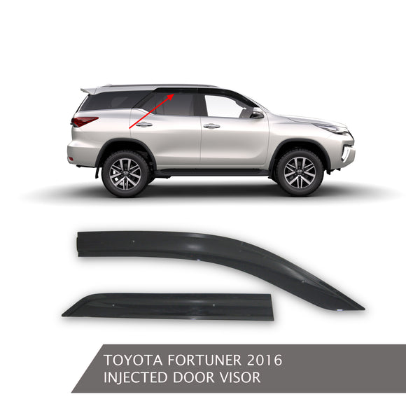 TOYOTA FORTUNER INJECTED DOOR VISOR BLACK