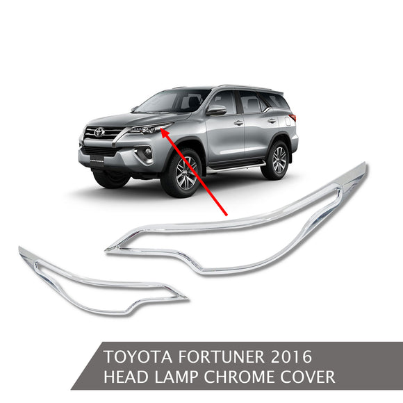 TOYOTA FORTUNER HEADLAMP COVER CHROME