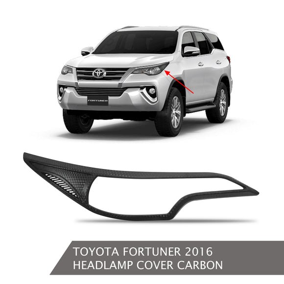 TOYOTA FORTUNER HEADLAMP COVER CARBON