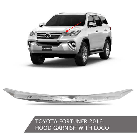 TOYOTA FRONT HOOD GARNISH WITH LOGO CHROME