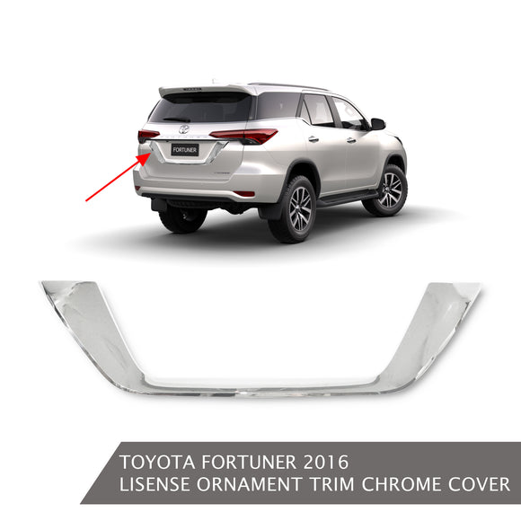 TOYOTA FORTUNER LICENSE ORNAMENT TRIM CHROME