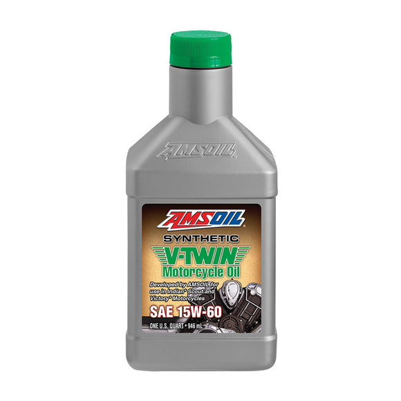 AMSOIL 15W-60 Synthetic V-Twin Motorcycle Oil