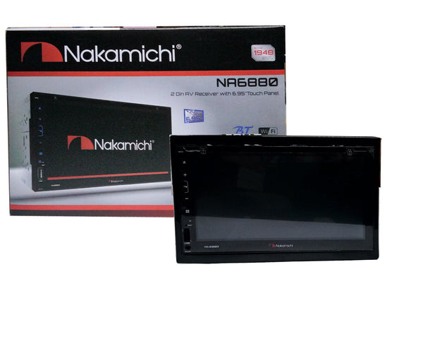 "Nakamichi NA-6880 6.95"" 2 DIN Receiver Touch Panel"