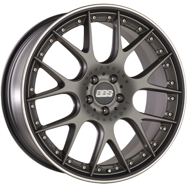 BBS WHEELS (GERMANY) SATIN PLATINUM WITH RIM PROTECTOR 11.0 x 20 (CH-R II)