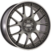 BBS WHEELS (GERMANY) SATIN PLATINUM WITH RIM PROTECTOR 9.5 x 20 (CH-R II)