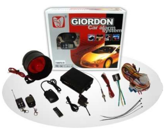 Giordon 2-WAY FM CAR ALARM 1km / 5kms