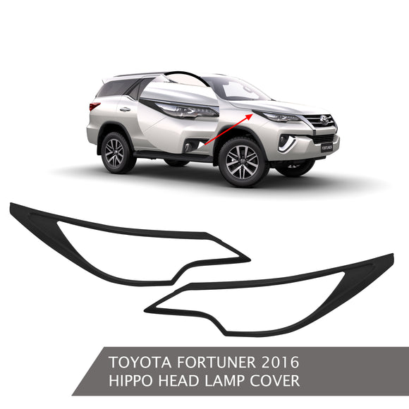 TOYOTA FORTUNER HEAD LAMP COVER BLACK
