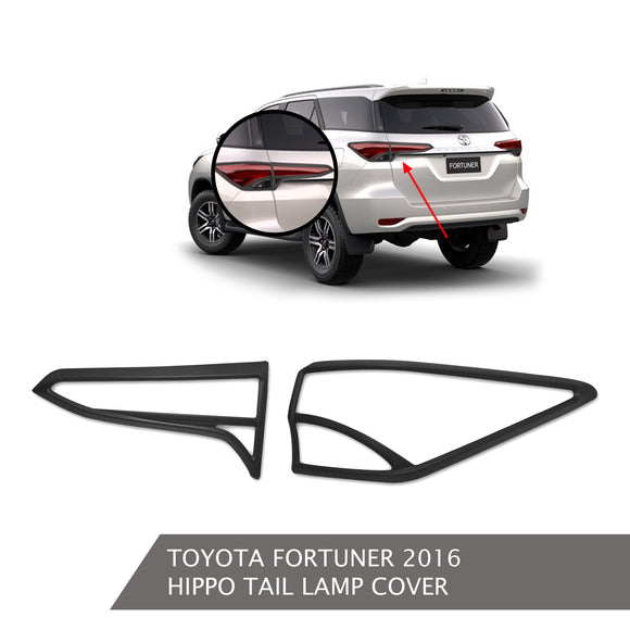 TOYOTA FORTUNER TAIL LAMP COVER BLACK