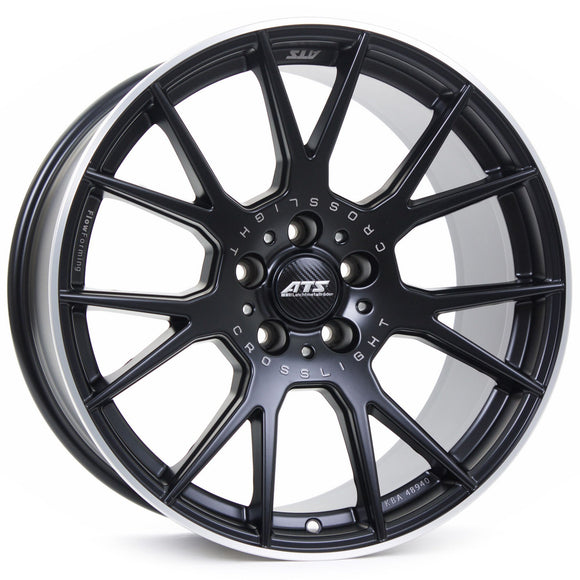 ATS Crosslight Racing Black Lip Polished 10.0X19