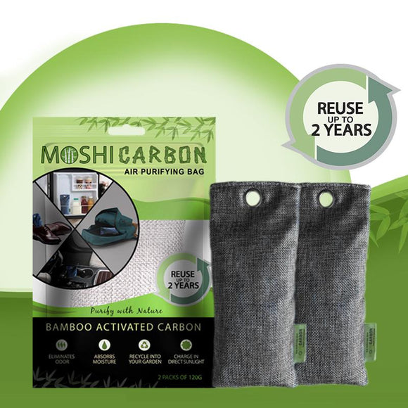 MOSHI CARBON Air Purifying Bamboo Activated Charcoal