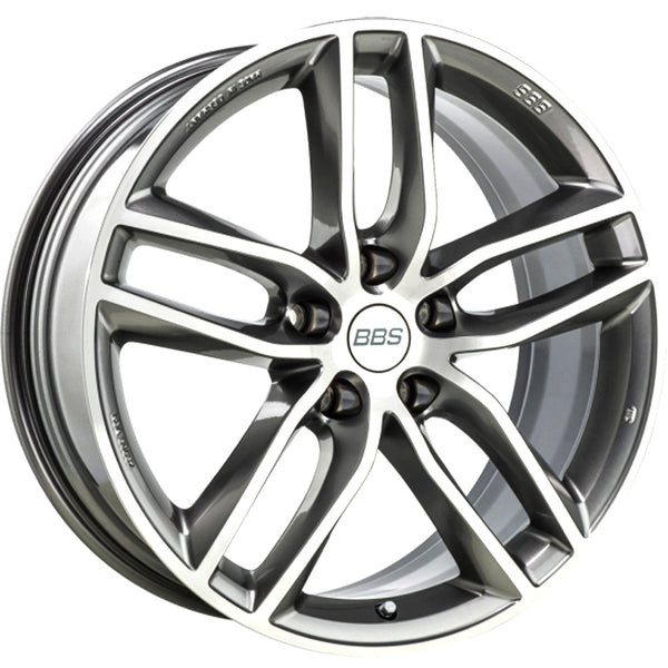 BBS WHEELS (GERMANY) PLATINUM SILVER/DIAMOND CUT 8.0 x 18 (SX)