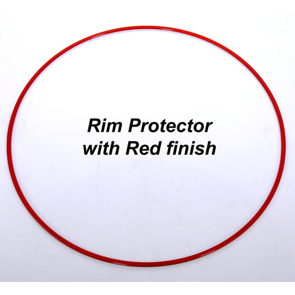 BBS RIM PROTECTOR STAINLESS STEEL RED 18