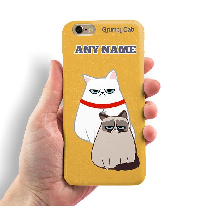 Grumpy Cat Yellow Phone Case - Image 0