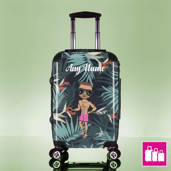 MrCB Tropical Print Suitcase - Image 0
