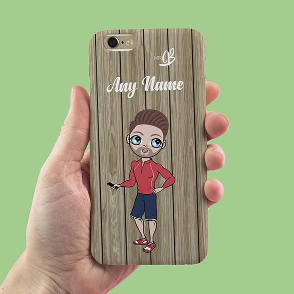 MrCB Personalized Wood Grain Phone Case - Image 1