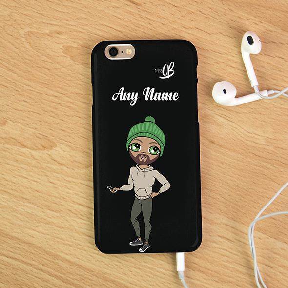 MrCB Personalized Black Phone Case - Image 1