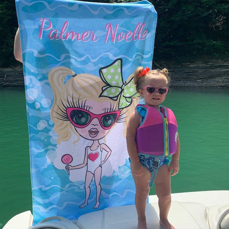 ClaireaBella Girls Pool Beach Towel
