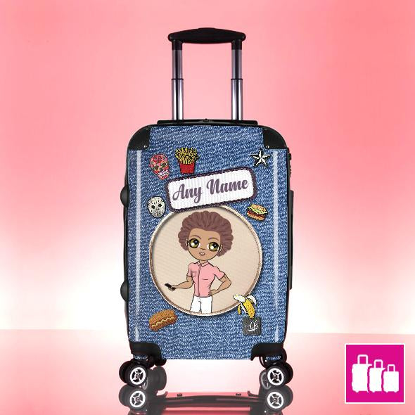 MrCB Denim Effect Suitcase - Image 0