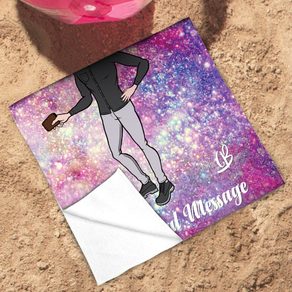 MrCB Glitter Effect Beach Towel - Image 3