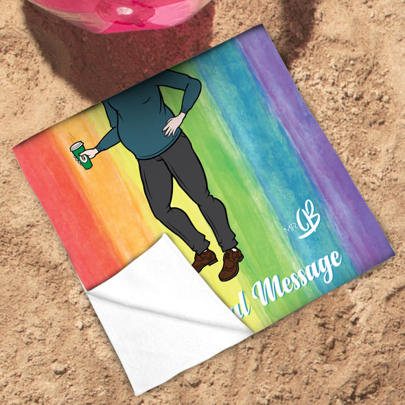 MrCB Rainbow Beach Towel - Image 3