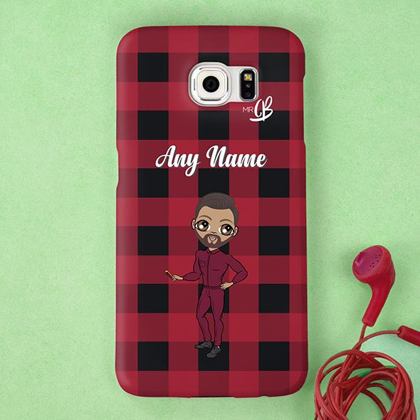 MrCB Tartan Print Personalized Phone Case - Image 1