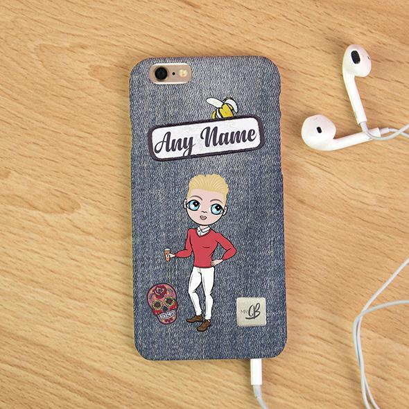 MrCB Denim Effect Personalized Phone Case - Image 1