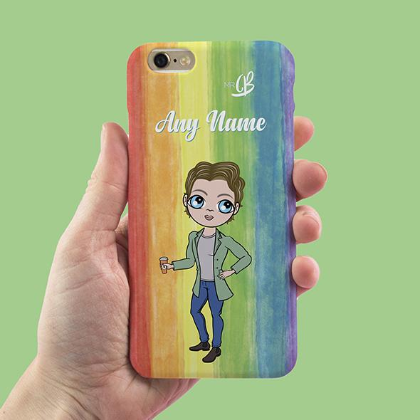 MrCB Rainbow Personalized Phone Case - Image 1