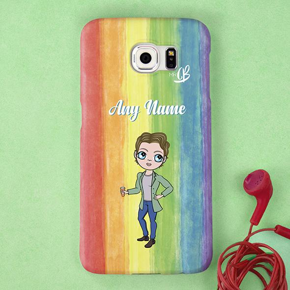 MrCB Rainbow Personalized Phone Case - Image 3