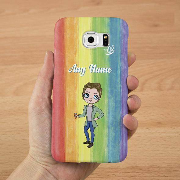 MrCB Rainbow Personalized Phone Case - Image 2