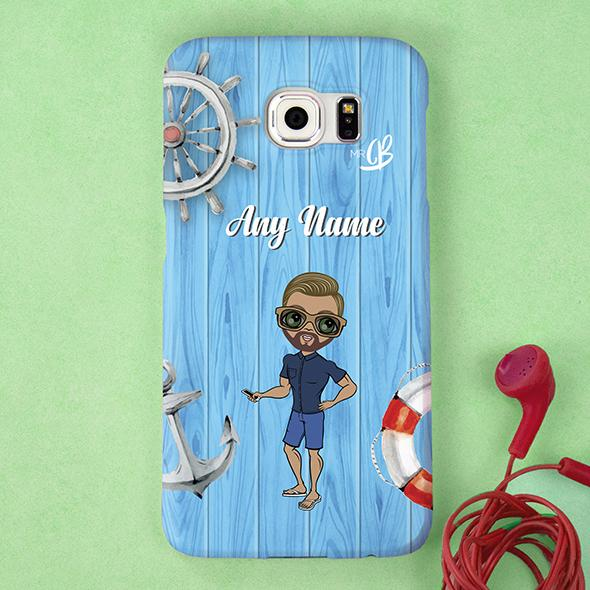 MrCB Nautical Print Personalized Phone Case - Image 1