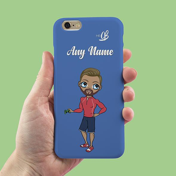 MrCB Blue Personalized Phone Case - Image 1