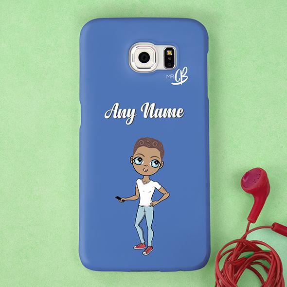MrCB Blue Personalized Phone Case - Image 3