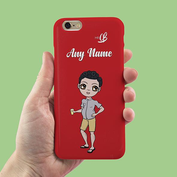 MrCB Red Personalized Phone Case - Image 2