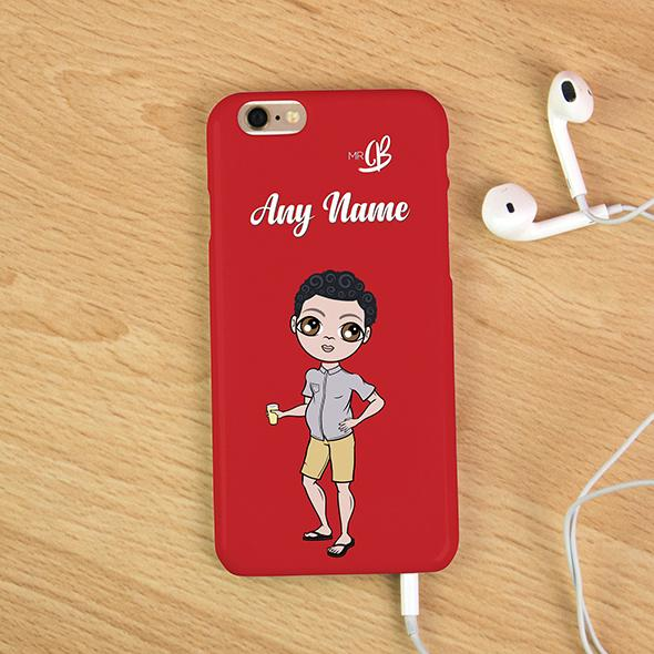 MrCB Red Personalized Phone Case - Image 3