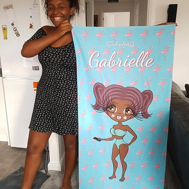 ClaireaBella Flamingo Print Beach Towel - Image 15