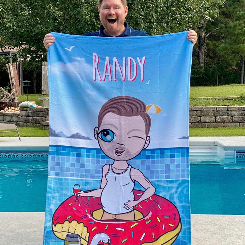 MrCB Pool Party Beach Towel