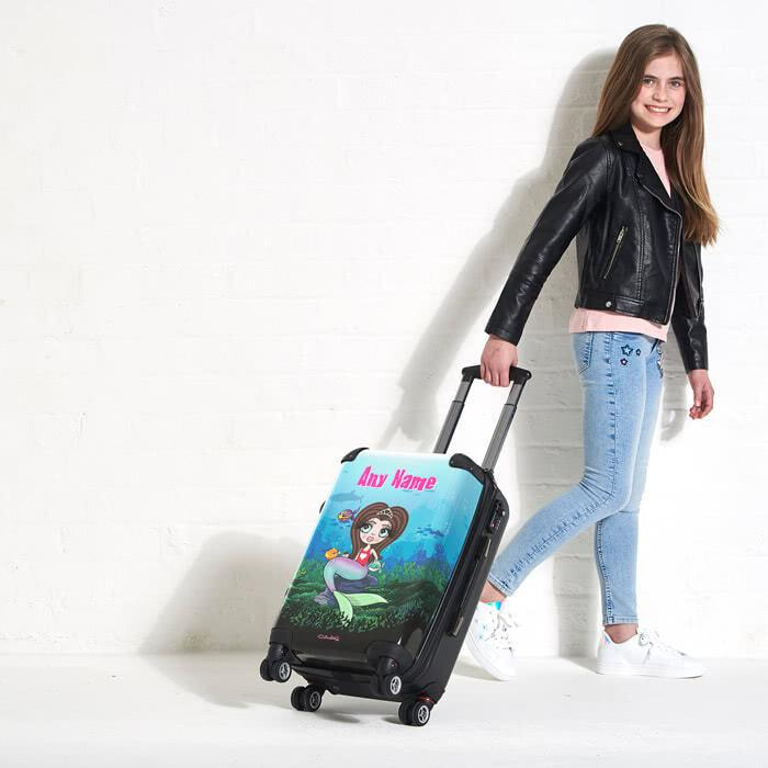 ClaireaBella Girls Mermaid Suitcase - Image 3