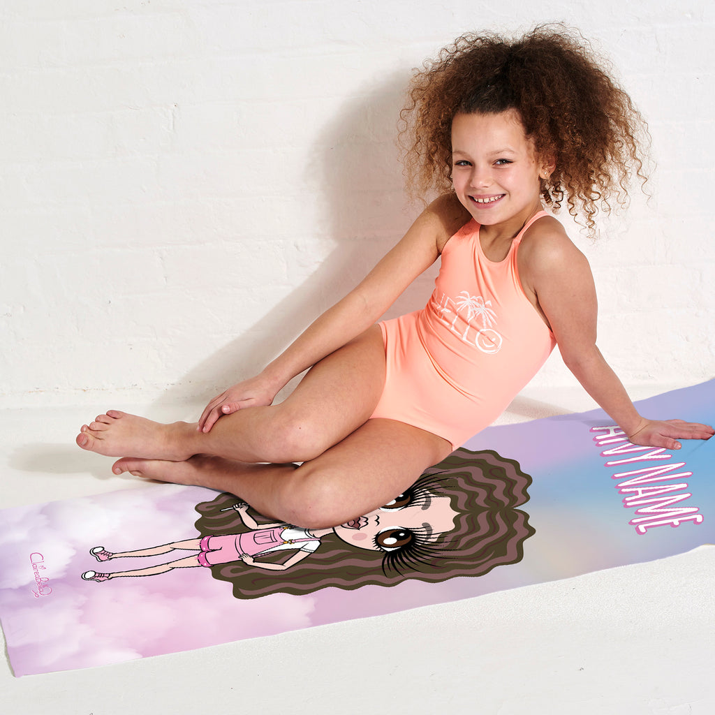 ClaireaBella Girls Unicorn Colours Beach Towel