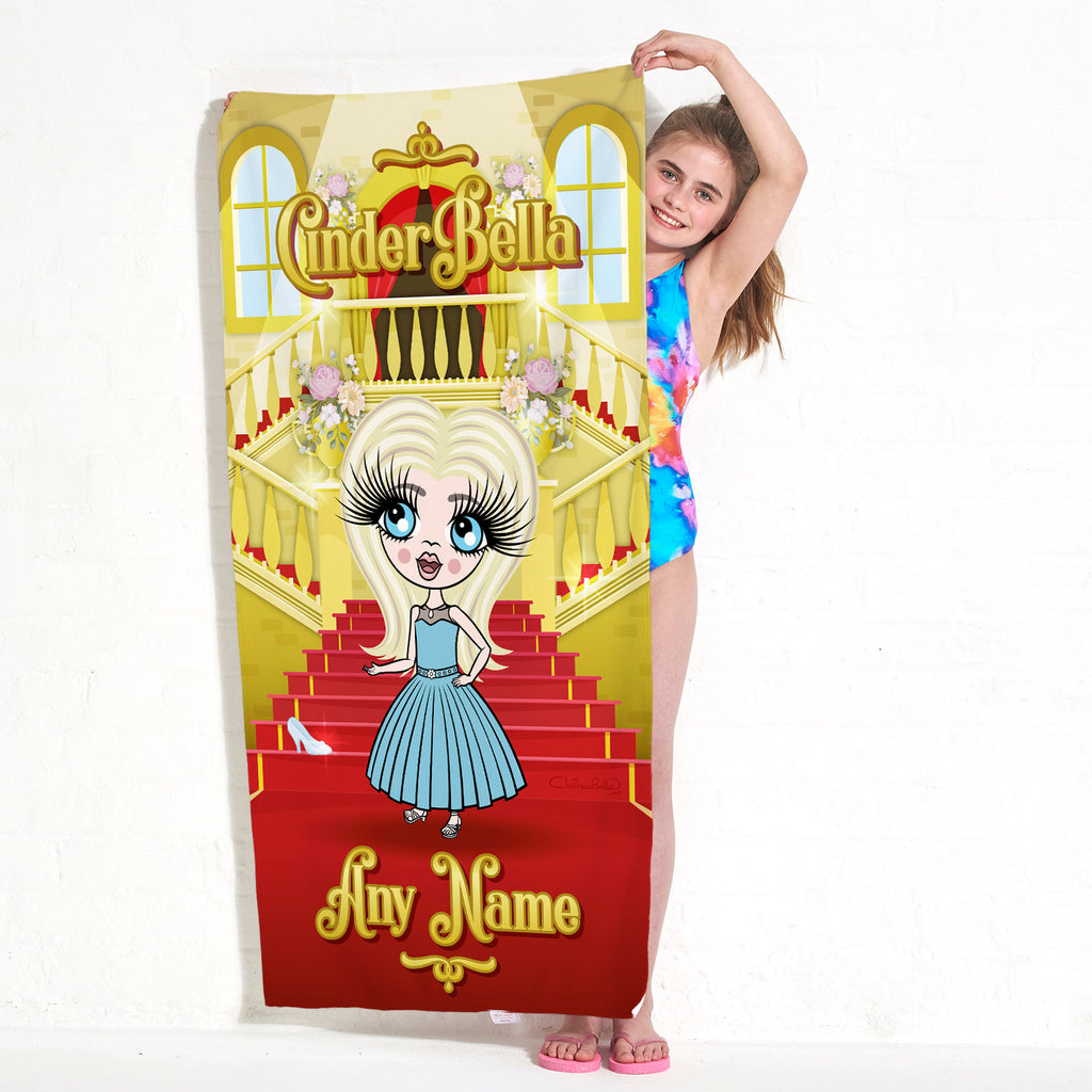 ClaireaBella Girls CinderBella Beach Towel