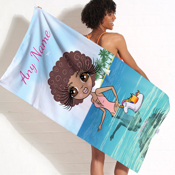 ClaireaBella Seaside Cocktails Beach Towel