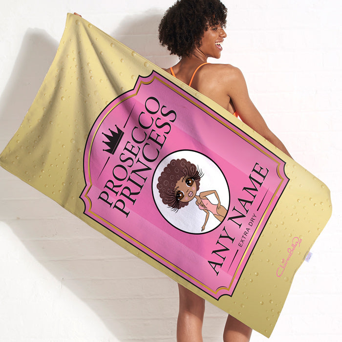 ClaireaBella Prosecco Princess Beach Towel