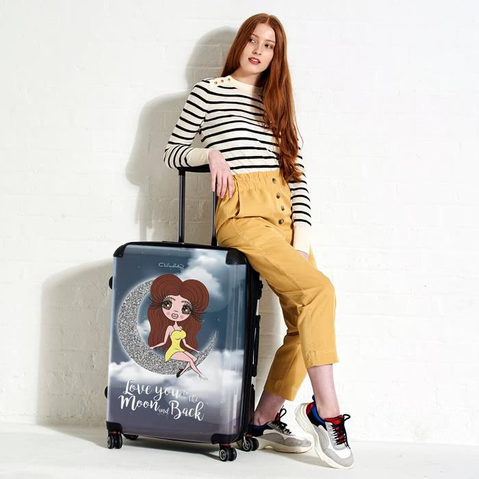 ClaireaBella Love You To The Moon Suitcase - Image 1