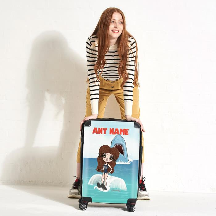 ClaireaBella Retro Shark Attack Suitcase - Image 0
