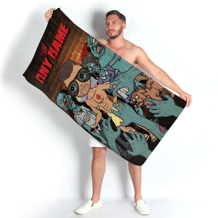 MrCB Zombie Beach Towel