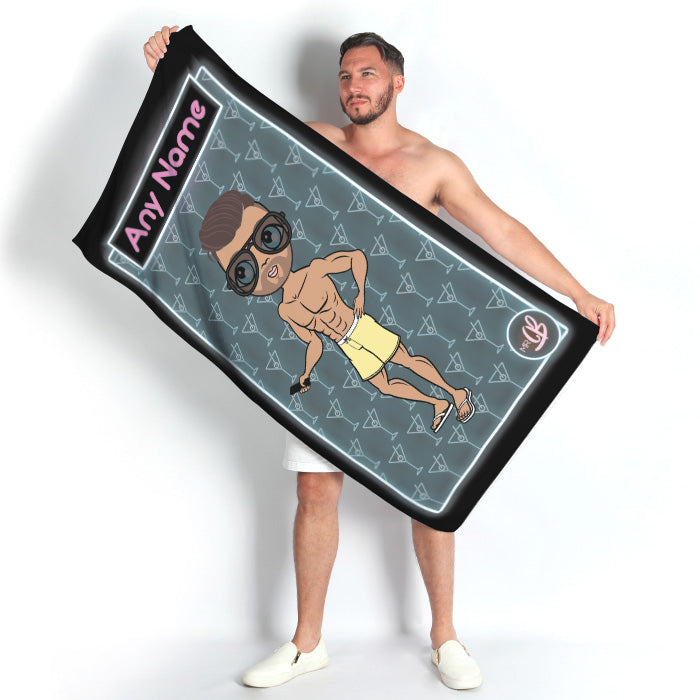 MrCB Cocktail Hour Beach Towel