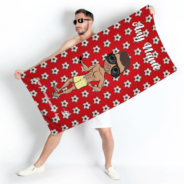 MrCB Football Beach Towel